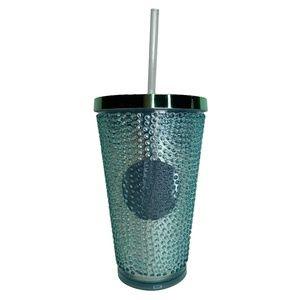 2014 Starbucks Travel Tumbler Green Metallic